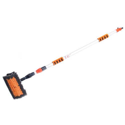 Щетка для мойки телескопическая с губкой и сгоном для воды Автостоп AB-1728 - фото 3